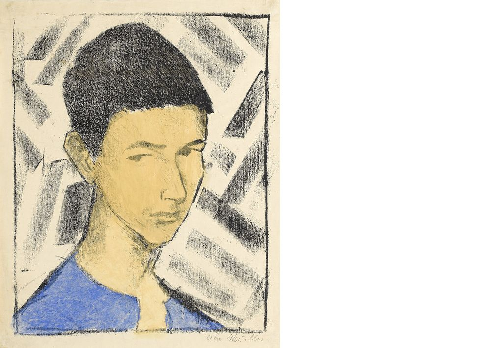 Otto Mueller, Portrait of Eugen (Head of a Boy), 1919, lithograph, Staatsgalerie Stuttgart, Department of Prints, Drawings and Photographs